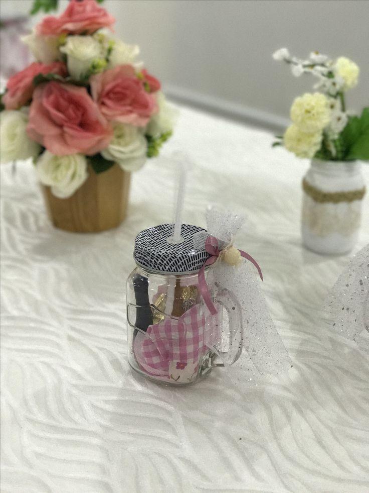 Souvenir... Vaso pitillo decorado para despedida de soltera