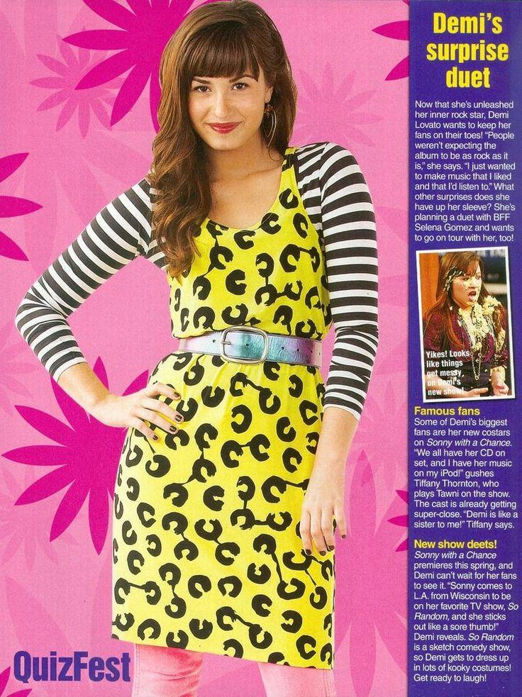Demi Lovato Clipping Nine Quiz Fest Magazine Pinup Mini Poster