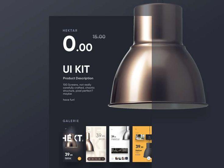 Hektar - Free UI Kit for Sketch