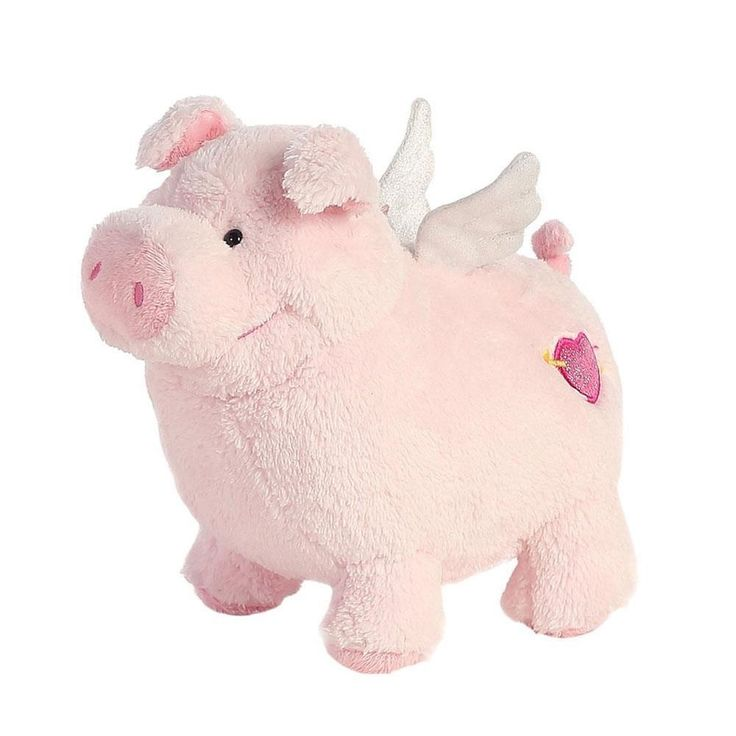 "9"" Aurora Plush Pink Pig Pigasus Farm Piggy Valentine Stuffed Animal Toy 07758 #Aurora"