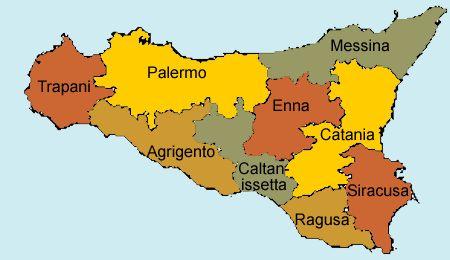 """[Map] """"9 Wine regions of #Sicily (Italy)"""" by Wineweb.com.  9 wine regions are: Agrigento, Catania, Caltanisseta, Enna, Messina, Palermo, Ragusa, Siracusa, Trapani  Sicily has also 9 DOC's:  Alcamo, Cerasuolo di Vittoria, Contea di Sclafani, Contessa Entellina,  Delia Novolelli, Eloro, Etna, Faro, and Malvasia delle Lipari."""