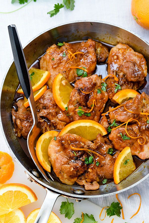 Asian Glazed Orange Chicken is an easy dinner perfect for weeknight meals | foodiecrush.com