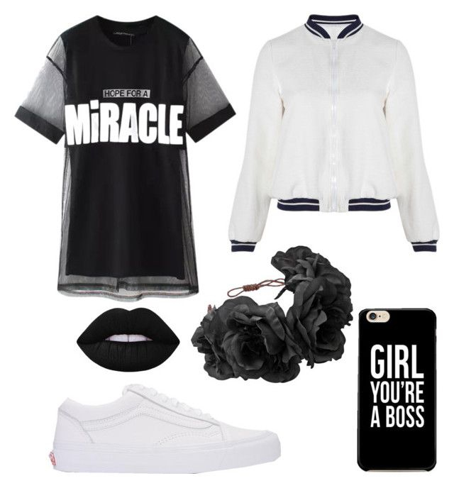 """Untitled #6"" by ralucapopa-1 on Polyvore featuring Chicnova Fashion, Related, Rock 'N Rose, Vans and Lime Crime"