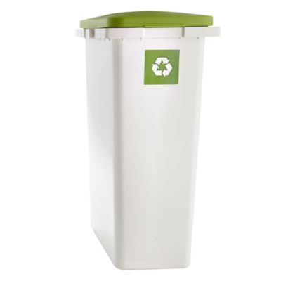 Slimline Interlocking Recycle Kitchen Waste Bin - White 25L