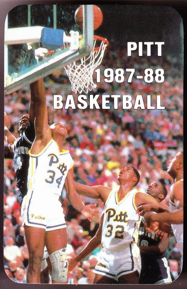 1987-88 PITTSBURGH PANTHERS MENS GLOSSY BASKETBALL POCKET SCHEDULE FREE SHIP  #Schedule