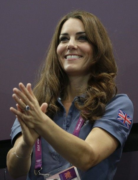 Duchess Catherine spent the evening at the women's preliminary handball match Great Britain vs Croatia at the Copper Box Hall.