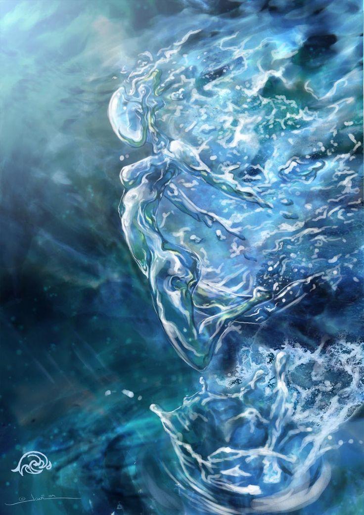 "Elements Water:  ""#Water Elemental,"" by javi-ure, at deviantART."