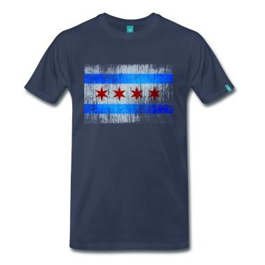 Vintage Distressed Classic Chicago City Flag T-Shirt | Spreadshirt | ID: 12455977