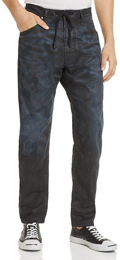 Diesel Narrot CB-NE Coated Slim Fit Jogger Jeans in Camouflage