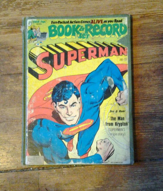 1978 Superman Book & Record Set: The Man from by RubbersuitStudios #records #superman