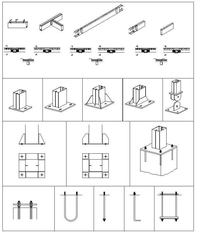 CAD blocks of Steel Structure, design of steel frame structures, design of steel structure, design of structural steel, industrial buildings, lightweight steel structures, seismic design of steel structures, steel buildings, steel design structure, Steel Detail, steel roof structure design, steel structure building design, Steel Structure design for steel structure, structural steel bracing design, Structural Steel Detailing  Description