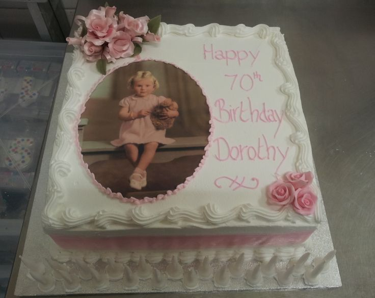 Birthday Cakes For 70th Birthday 70th Birthday Sponge