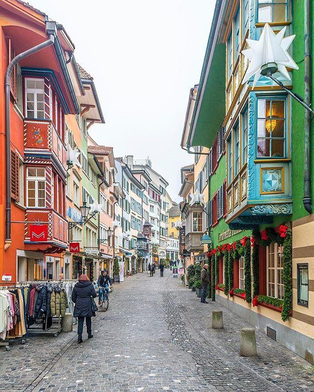 Zurich Tourism Visitzurich Colorful Augustinergasse