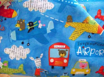 Airport by Kokka Fun aeroplane and travel fabric #kokka #japanesefabrics #planes