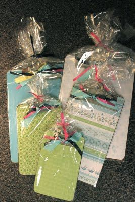 I noticed a lot of Megan's teachers had decorative clipboards. These would be easy to make!