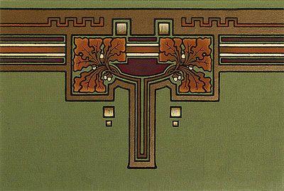Arts & Crafts Wallpaper, Craftsman Style Wallpaper | Oakleaf Frieze and Border in Forest Green | Bradbury & Bradbury