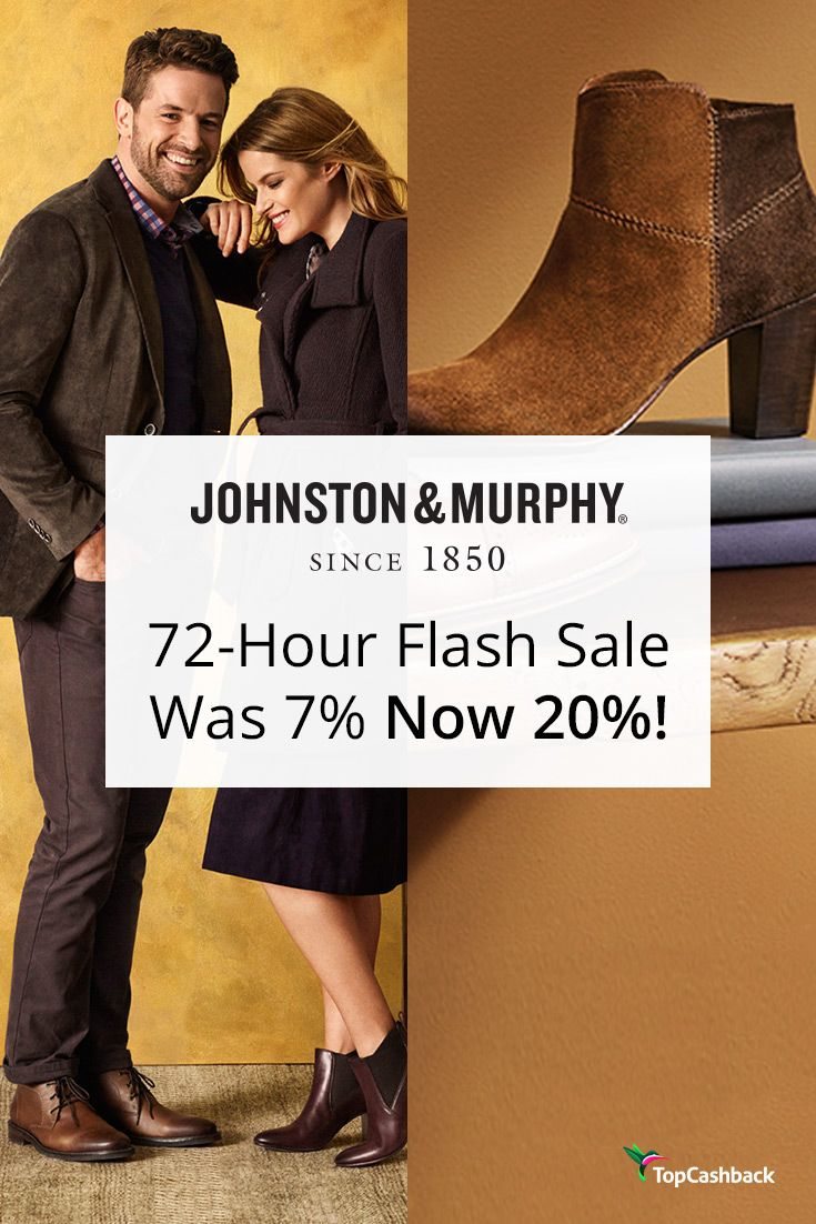 Link to shop & earn 20% cash back -> https://www.topcashback.com/johnston-and-murphy/