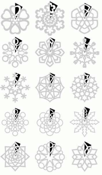 i fiocchi di neve di carta