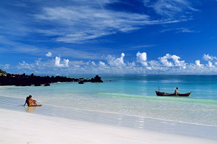 Comoros Islands archipelago is located between Madagascar and Mozambique
