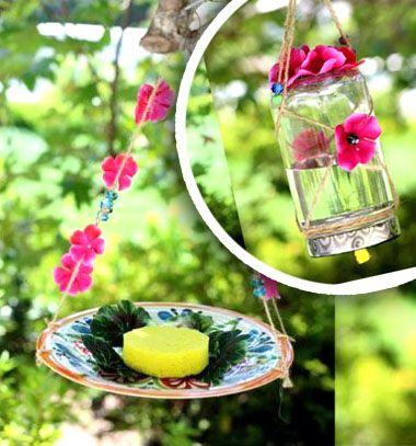 How to make a homemade butterfly feeder ( 2 different ways) // Makramé lepke etetők házilag egyszerűen - újrahasznosítás // Mindy - craft tutorial collection