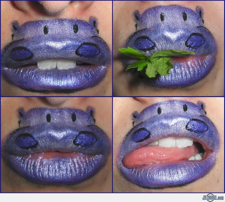 Hippo Lip Art Designs1024 x 918 | 643.5KB | www.thezooom.com