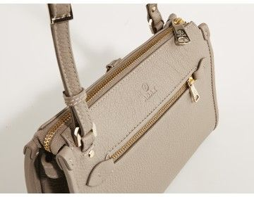 Grey bag with golden hardware by Adax