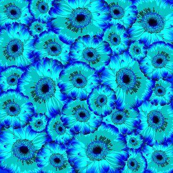 Flowers, Background, Pattern