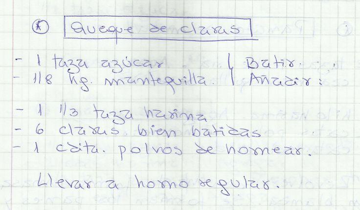 QUEQUE DE CLARAS   #DULCE #MASAS #QUEQUE #HARINA