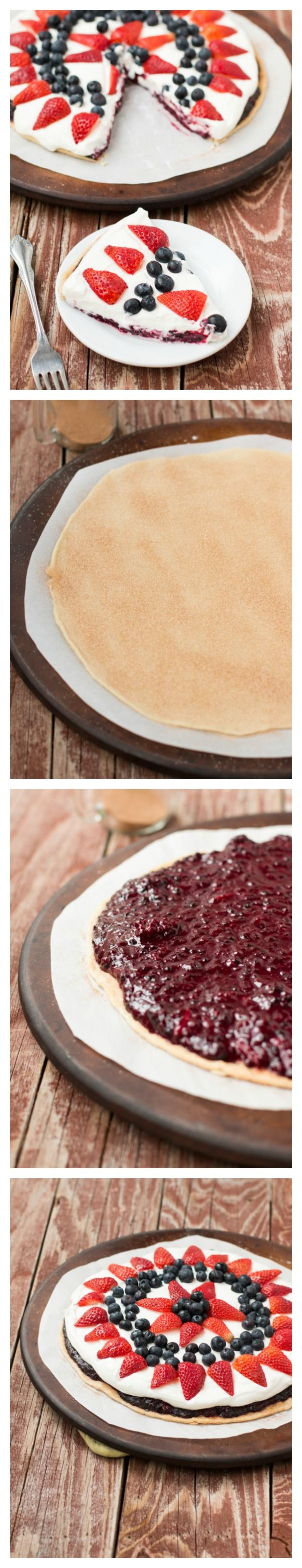 The best solution if you're nervous about pie making! Berry fruit pizza pie! ohsweetbasil.com