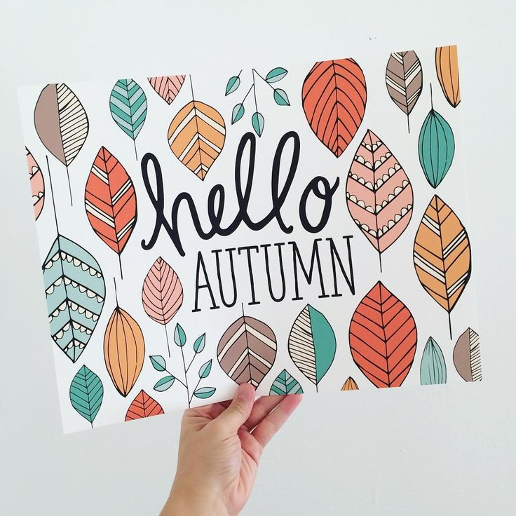 Hello Autumn Print by PenandPaint on Etsy