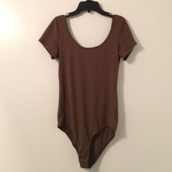Bosscolio Brown Leotard Size: Large In great condition! Bozzolo Tops