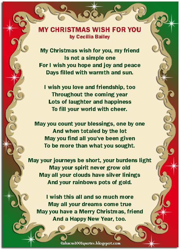 My Christmas Wish For You Christmas Merry Christmas Snowman Santa Happy Holiday Christmas Poems For Friends Christmas Poems For Cards Merry Christmas Poems
