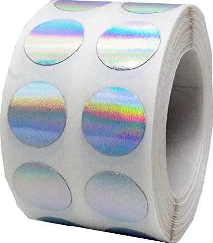 """1,000 Small Hologram Color Coding Dots 