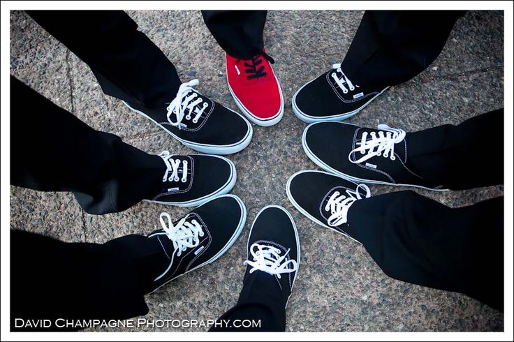 Shoe shot - groom and groomsmen |Black + White