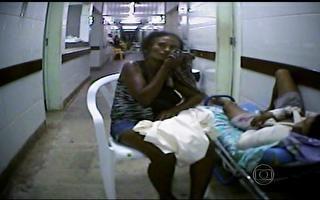 Pacientes esperam atendimento em ambiente degradante em emergência no Maranhão
