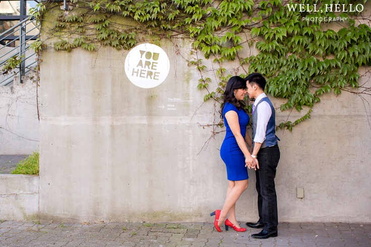 Amy and Tim's Granville Island Engagement Session from Lindsay London photography.