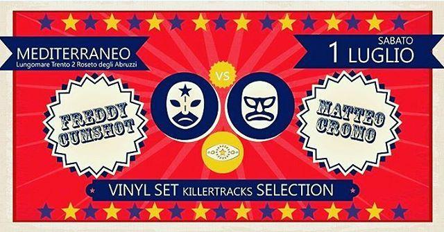 Freddy Cumshot vs Matteo Cromo Vinyl Set⠀ LIDO MEDITERRANEO - Roseto degli Abruzzi | Eventi Teramo⠀ #eventiteramo #eventabruzzo #besties…