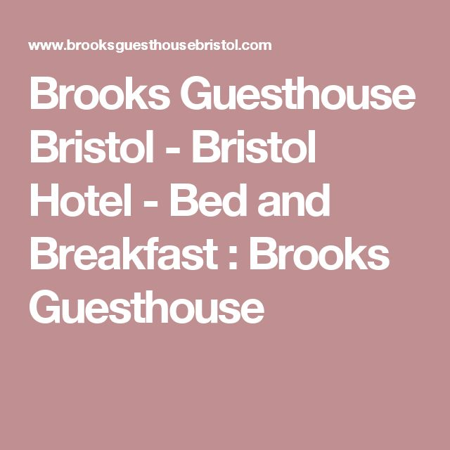 Brooks Guesthouse Bristol - Bristol Hotel - Bed and Breakfast : Brooks Guesthouse