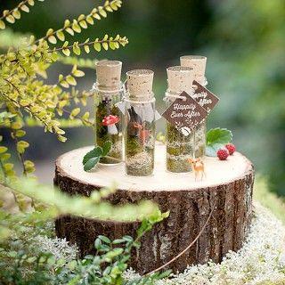 woodland faerie terrariums wedding favors | Evermine Weddings | www.evermine.com