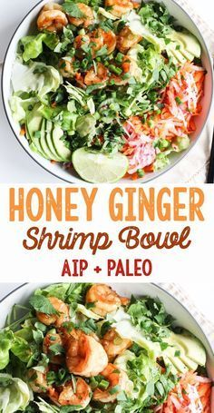 Honey-Ginger Shrimp Bowls (AIP, Paleo)