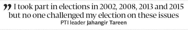 Jahangir Tareen denies any loan write-offs - The Express Tribune