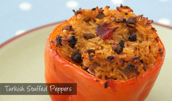 The Delia Smith Project (#76 ) from Eine Kugel Vanilla: Turkish Stuffed Peppers