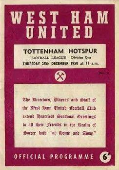 58_12_25 WHU v. Tottenham Hotspur