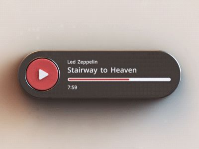 Audio Player - click through to see the interaction transition animated gif