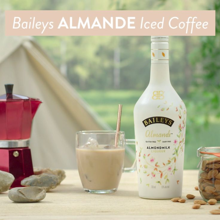 Go from camping to glamping with NEW dairy free, gluten free, and vegan Baileys Almande. Pick up a bottle before your next trip outdoors, so that while you're enjoying s'mores around a campfire, you can mix up a Baileys Almande Iced Coffee. Simply pour 3 oz iced coffee into 3 oz Baileys Almande, stir and enjoy nature at its finest!