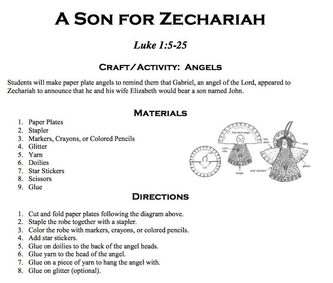 Zechariah Elizabeth Angel Craft