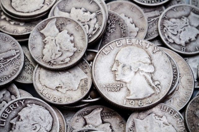 10 Valuable Coins That Might Be In Your Pocket -Dimes, quarters and half dollars from 1964 and earlier are made of 90% silver.