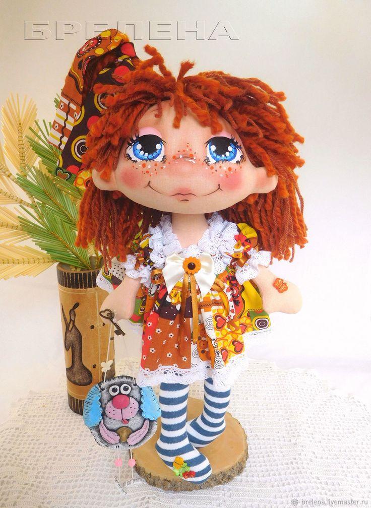 Купить Текстильная кукла Машенька. Текстильная интерьерная кукла - текстильная кукла, подарок на новый год