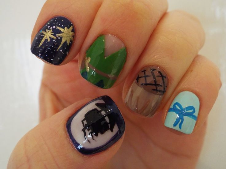 Barely Ginger: Peter Pan nail design