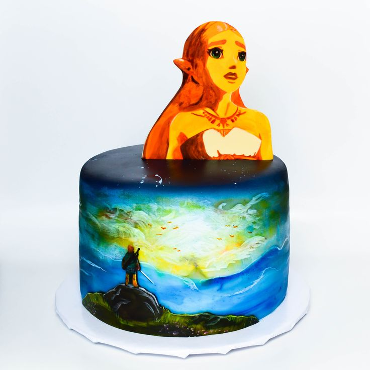 Hand Painted Zelda Breath Of The Wild Themed Cake Jam